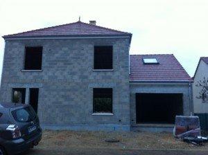 Fin de la toiture et pose vélux du garage toiture-garage-terminee-300x224